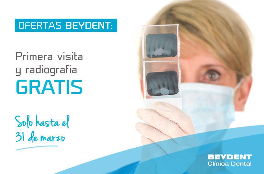 Promo--marzo-clinica-dental-madrid-oferta-primera-visita-y-radiografia-gratis-beydent
